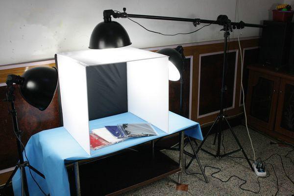 供应50cm摄影棚广口灯三灯套装拍照道具