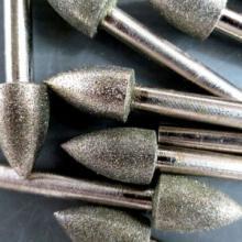 供应金刚石磨头, 圆柱形,子弹形,圆球形,T形金刚砂雕刻磨棒