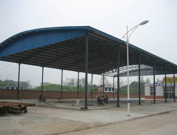 供应合肥钢结构车棚