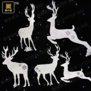 pvc婚庆橱窗道具闪晶小鹿图片