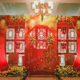 中式花格婚庆道具前幕背景屏风隔断图片