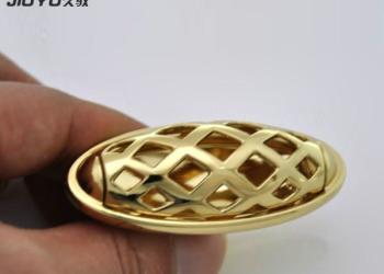 金色锌合金双孔拉手图片