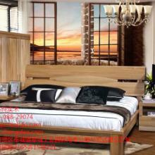 供应榆木实木床高箱床婚床工厂直销