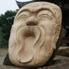供应手工雕刻老榆木鬼脸面具  精雕细琢木雕工艺品