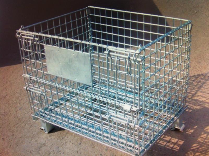 供应东营仓储笼生产厂家折叠式蝴蝶笼铁笼子