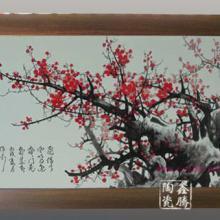 供应精品粉彩瓷板画-手绘纪念品,高档装饰物批发