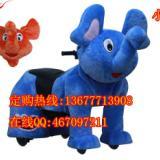 供应毛绒电动车厂家动物电瓶车广场儿童游乐设备