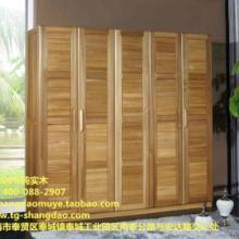 供应尚岛木业工厂直销纯榆木五门衣柜