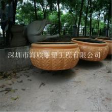 供应深圳最大的玻璃钢花盆雕塑供货商/花盘雕塑厂家/深圳玻璃钢花盘公司图片