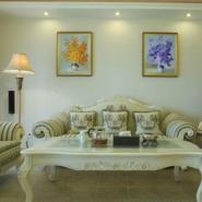 纯手绘油画客厅装饰画现代简约图片