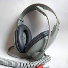 厂家供应 语音室教学头戴式耳机  软管驻极体 弹弓线电脑耳麦 头戴式语音室教学耳机