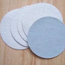 供应金牛圆盘砂纸白色拉绒片植绒砂纸,粘绒圆盘砂纸,植绒干砂纸