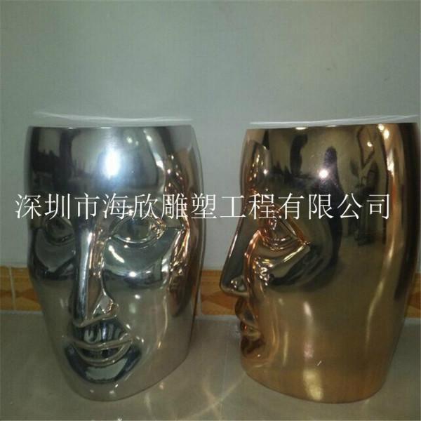 玻璃钢艺术休闲桌椅雕塑销售