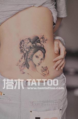 日本艺妓 艺妓纹身 纹身图片