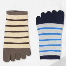 供应台湾袜子条纹男款五指袜