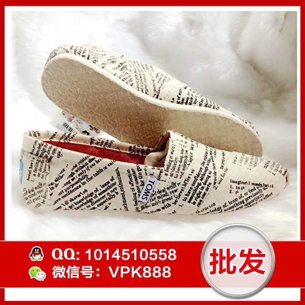 供应toms浅口鞋 正品字典音符系列帆布鞋女鞋