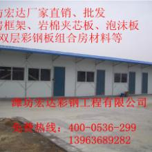 供应威海工地彩钢房原材料厂家/威海彩钢房材料厂家/威海工地彩钢房材料图片
