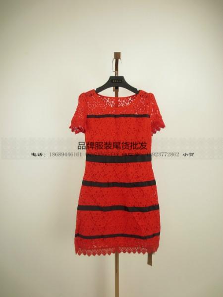供应美加美品牌女装便宜尾货批发品牌剪标女装夏天连衣裙品牌女装库存