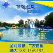 超大泳池家庭儿童移动水上乐园充气图片
