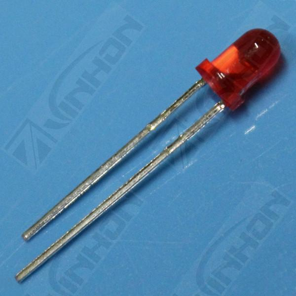 供应3mm红发红普亮短脚LED发光二极管