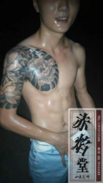 供应莲花纹身佛类纹身图案
