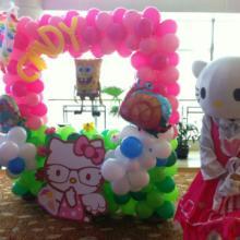 @北京宝宝百日宴气球布置策划@北京满月酒气球布置@北京满月宴布置