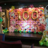 供应宝宝宴气球/百日宴气球装饰/氦气球/创意百日宴装饰