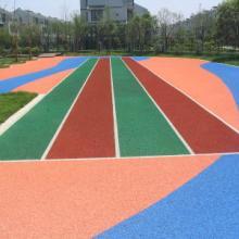 遂宁幼儿园室外弹性地坪|彩虹跑道的遂宁塑胶球场南充EPDM塑胶跑道