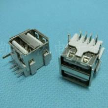 microUSB母座双插脚6.4间距有柱卷边批发