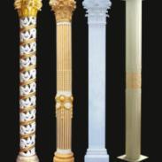 高档豪华龙柱雕塑图片
