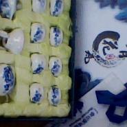 12头青花瓷茶具图片