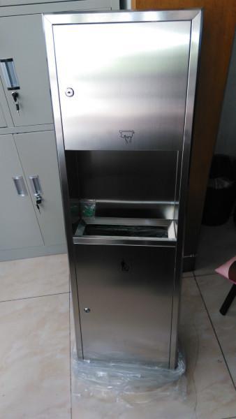 供应挂墙式擦手纸箱、带垃圾桶擦手纸箱、组合式抽纸巾箱批发