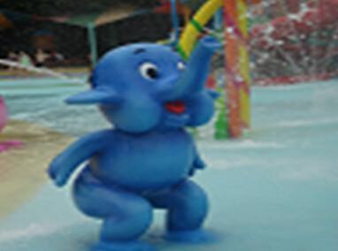 小象喷水图片图片
