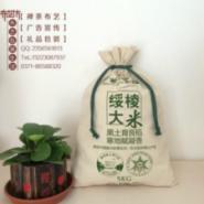 大米袋+麻布拼接束口袋图片