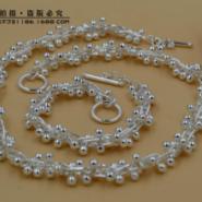 精品镀925银葡萄串手链项链HP040图片