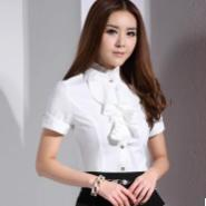雪纺衬衫短袖韩版修身荷叶边打底衫图片