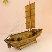 优质精品帆船船模型办公室家居精美摆件装饰小木船手工制造批发