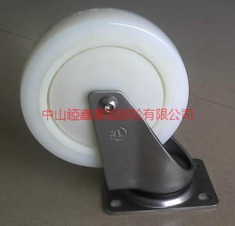 供应TF带轴承不锈钢定向尼龙脚轮-万向轮-活动轮-万向带刹车轮-刹车脚轮
