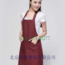 供应餐饮围裙定做餐厅围裙加工酒店围裙纺布印刷围裙