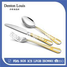 供应镀金不锈钢餐具应不锈钢刀叉勺72件套厂家直销精致餐具批发