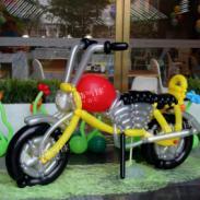 气球哈雷/气球飞机/气球宝宝宴装饰图片