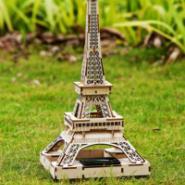 巴黎埃菲尔铁塔3d木质模型新奇特色图片