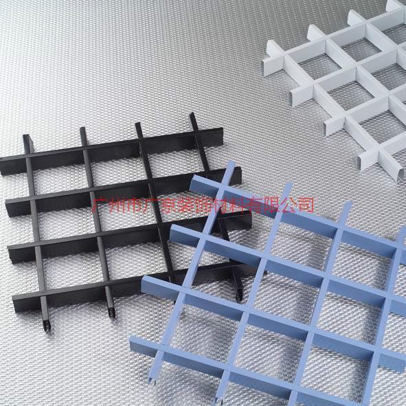 供应福州优质铝格栅厂家-福州优质铝格栅厂家报价-木纹色铝格栅吊顶
