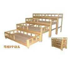供应儿童多层床推拉床节约空间方便实用tzl-001廊坊童之乐玩教具批发