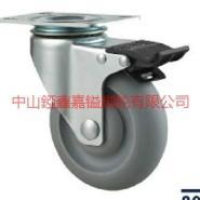 供应TF中型人造胶TPR万向带刹车脚轮-广东人造胶TPR轮价格-厂价批发
