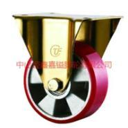 4-8寸平面铝芯聚氨脂PU定向脚轮图片