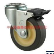 供应TF中型方边TP孔顶穴式刹车脚轮-方边TPR轮价格-中山方边TPR轮