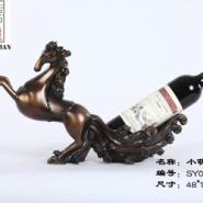 深圳树脂古典红酒架小萌马酒架图片