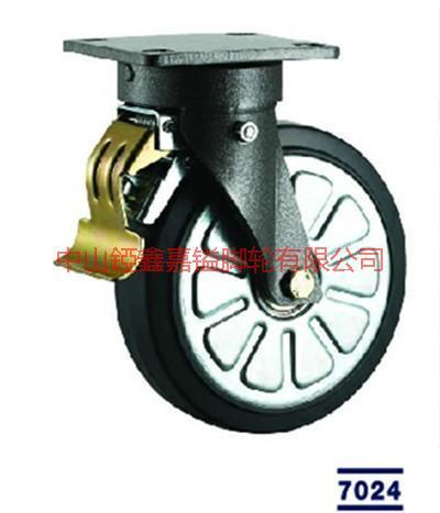 供应重型欧款花纹黑色PU轮,5寸6寸8寸10寸,欧款铝芯PU轮厂家