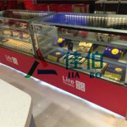 大理石底座立式直角蛋糕柜价格图片